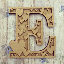 DL010 - MDF Hearts Themed Layered Letter