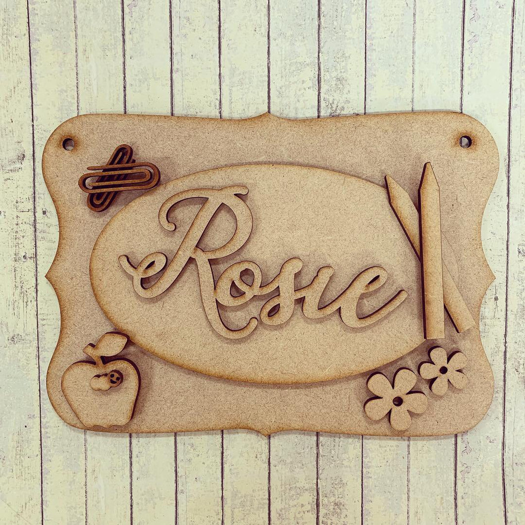 OP042 - MDF School Themed Personalised Plaque