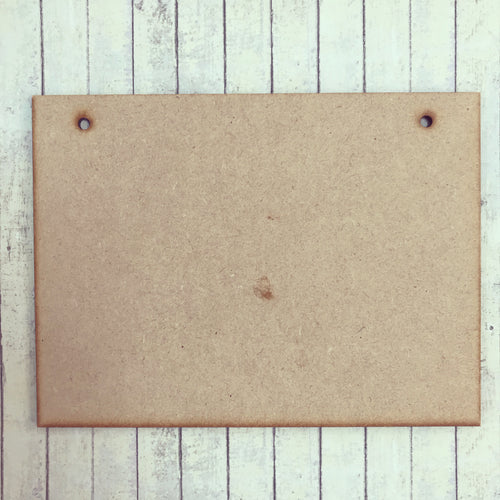 OL151 - MDF Rectangle Plaque with Hanging Holes Option