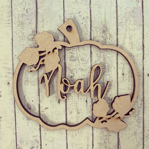 HI015 - MDF Personalised Hanging Pumpkin