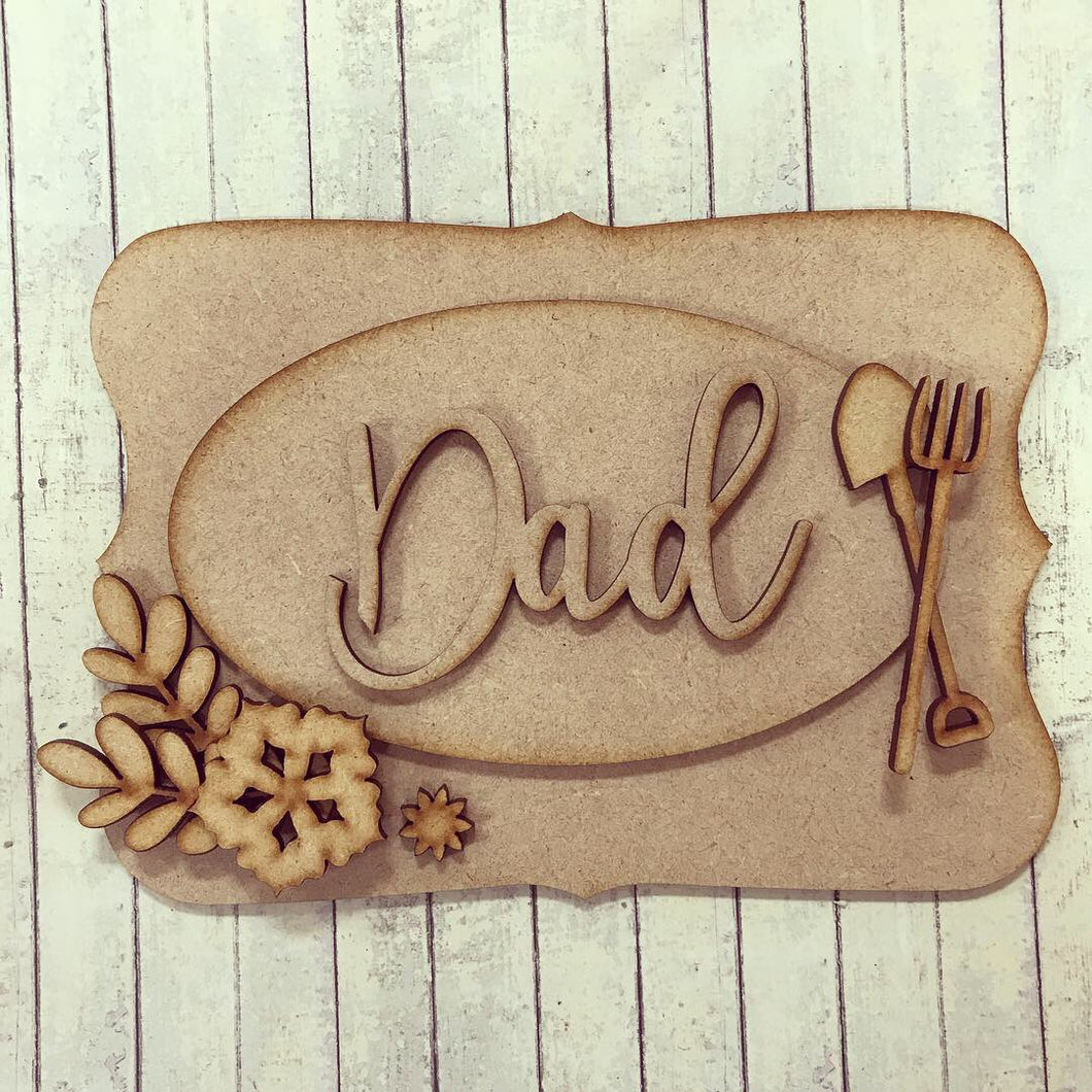 OP021 - MDF Gardening Themed Personalised Plaque