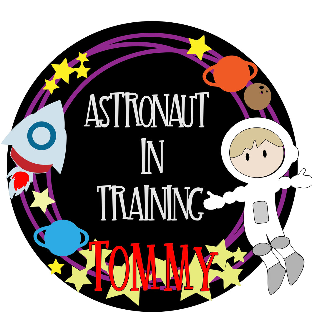 OL378 - MDF Large Personalised 'Astronaut in Training' Plaque