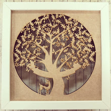 IF002 - MDF Full Circle Tree Frame - Front Insert (fits Ikea Ribba)
