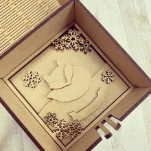 LH013 - MDF Fox Frame Square 3D Plaque - Two Sizes - Olifantjie - Wooden - MDF - Lasercut - Blank - Craft - Kit - Mixed Media - UK