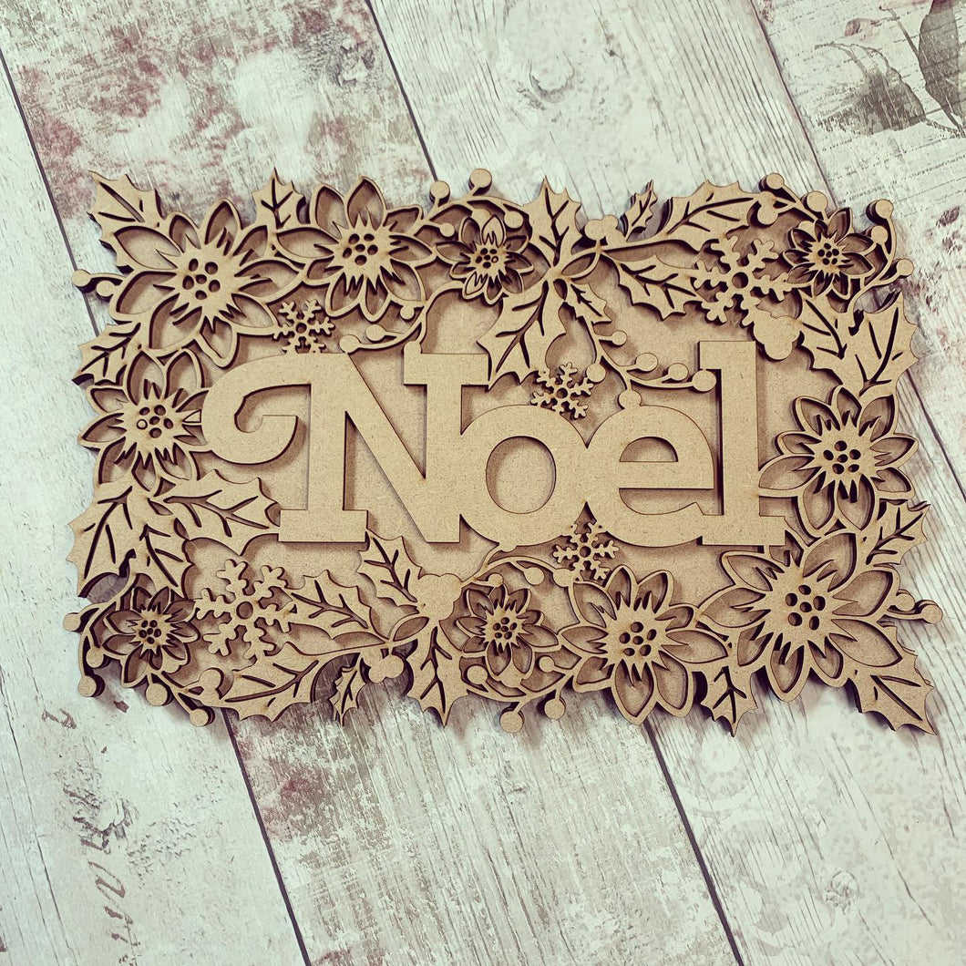 CH212 - MDF Layered Christmas Word Art Plaque - Nollaig Shona