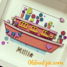 OL036 - MDF Canal River Boats - Set of 2 Kits - Olifantjie - Wooden - MDF - Lasercut - Blank - Craft - Kit - Mixed Media - UK