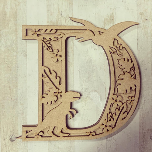 DL002 - MDF Dinosaur Layered Letter