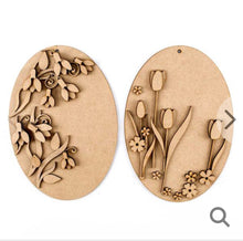 HC001 - MDF Snowdrops and Spring - x2 Plaques - Olifantjie - Wooden - MDF - Lasercut - Blank - Craft - Kit - Mixed Media - UK