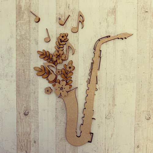OL301 - MDF Floral Saxaphone Craft Kit