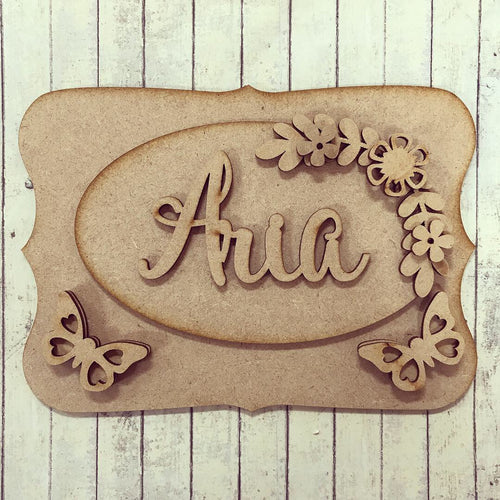 OP010 - MDF Butterfly Themed Personalised Plaque