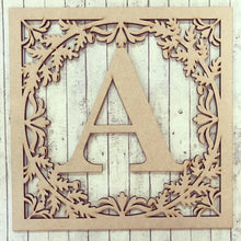 IF004- MDF Oak Initial - Front Insert with Optional Backing Plate (fits Ikea Ribba)