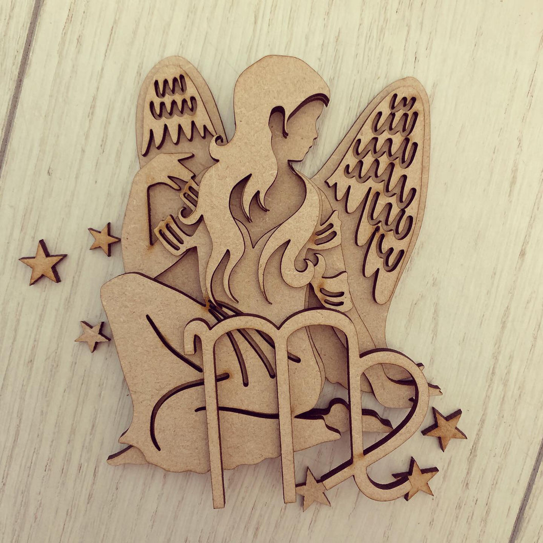 SJ209 - MDF Zodiac various sizes - Virgo - Olifantjie - Wooden - MDF - Lasercut - Blank - Craft - Kit - Mixed Media - UK