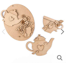 HC002 - MDF Flowers and Tea Collection - Olifantjie - Wooden - MDF - Lasercut - Blank - Craft - Kit - Mixed Media - UK