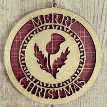 OL341 - Thistle Themed MDF or Birch Bauble