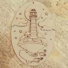 LH - MDF Lighthouse and Whale - Set of 3 kits - Olifantjie - Wooden - MDF - Lasercut - Blank - Craft - Kit - Mixed Media - UK