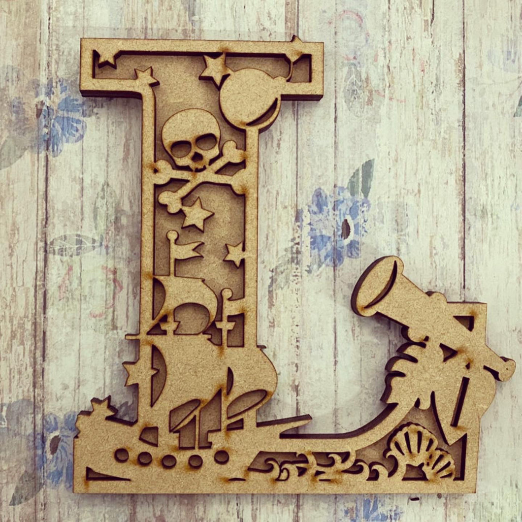 DL022 - MDF Pirate Themed Layered Letter