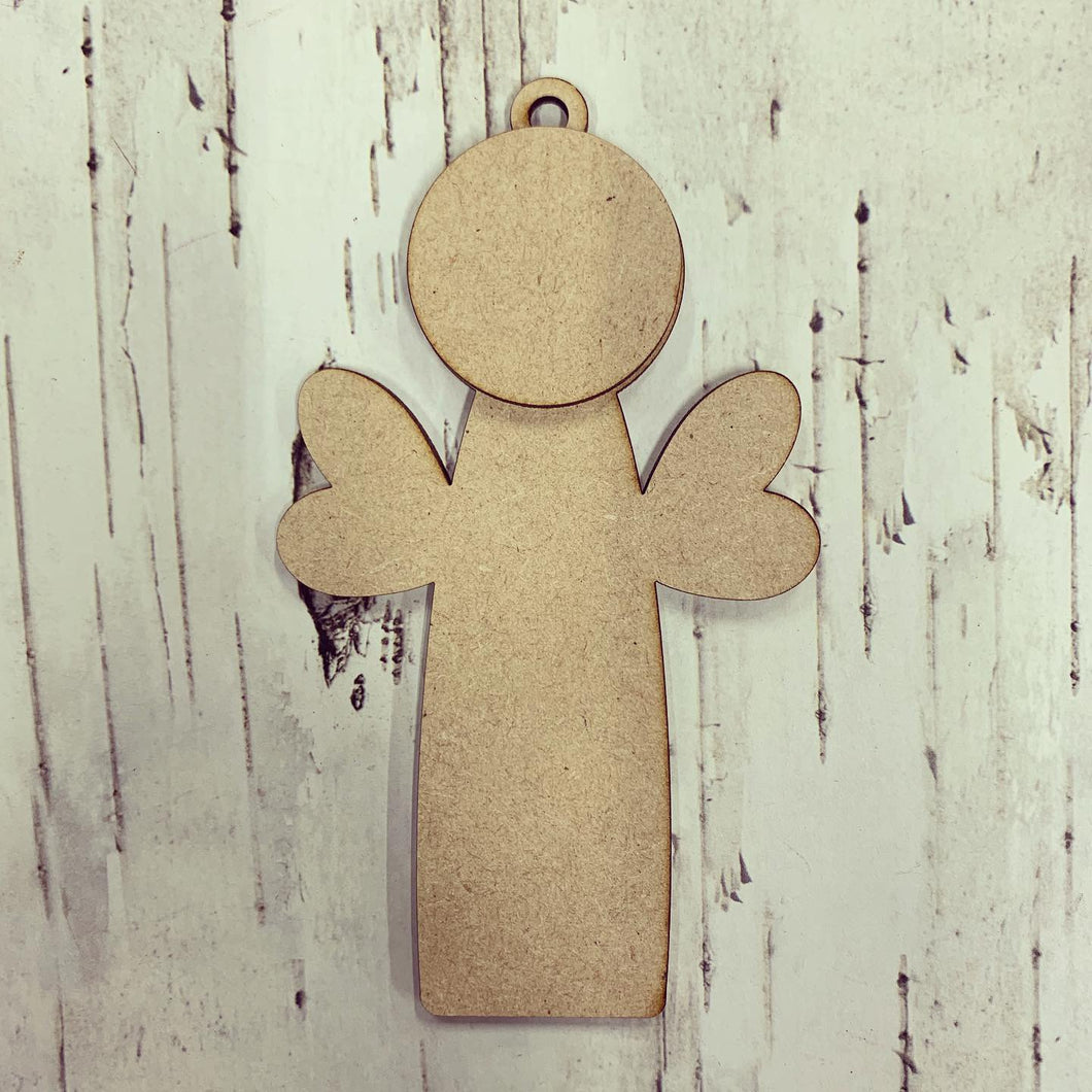 CH173 - MDF Straight Angel / Fairy Bauble - Hanging Style 1