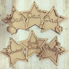 Father's Day - Star Bundle - Olifantjie - Wooden - MDF - Lasercut - Blank - Craft - Kit - Mixed Media - UK