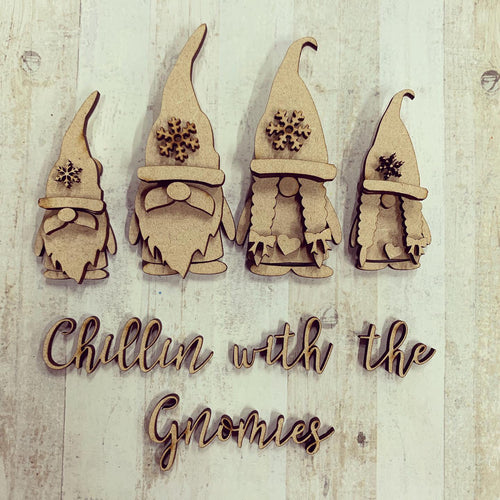 GN004 - MDF Gnome Family Set - Chillin with the Gnomies