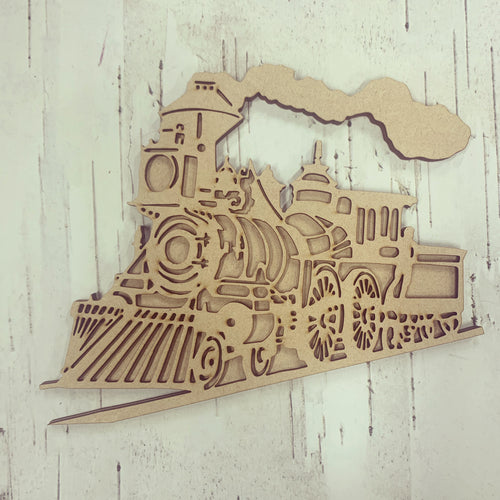 BD014 - MDF Bonnita Doodles Steam Train - Layered Cut