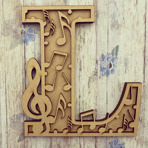 DL024 - MDF Music Themed Layered Letter