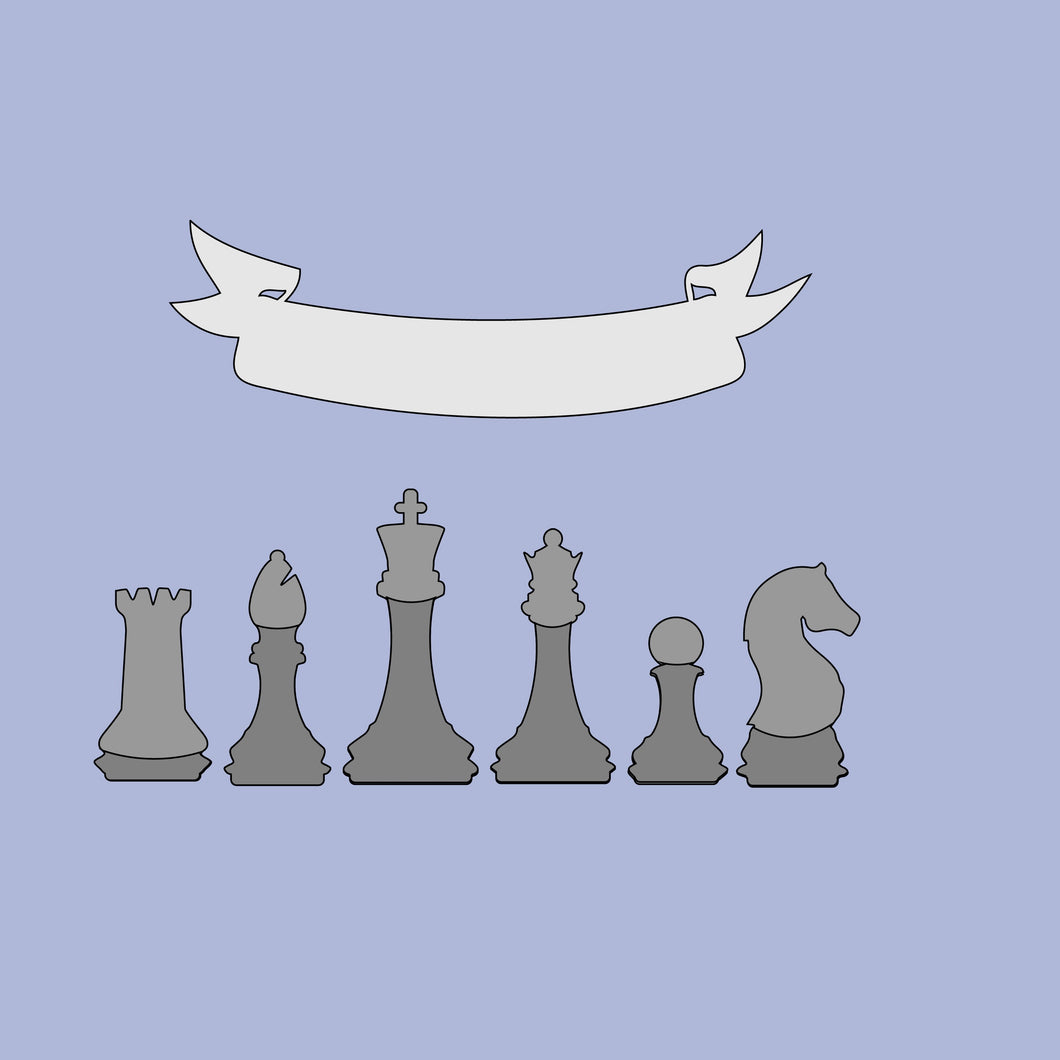FA017 - MDF Chess Piece Family