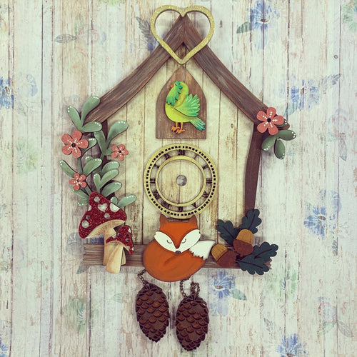 HC091 - MDF (Undecorated but clock mechanism included) Cuckoo Clock
