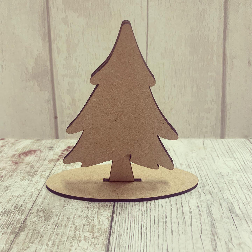 CH153 - MDF Freestanding Christmas Tree - Olifantjie - Wooden - MDF - Lasercut - Blank - Craft - Kit - Mixed Media - UK