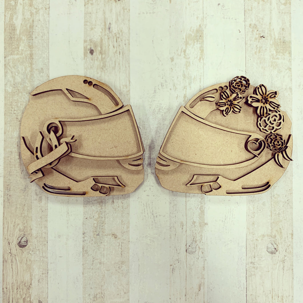 SJ227 - MDF Motorbike Helmets with Flowers