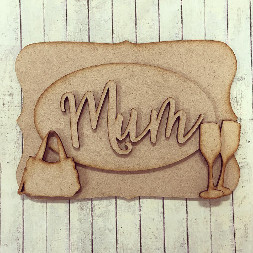 OP022 - MDF Woman / Girl Themed Personalised Plaque