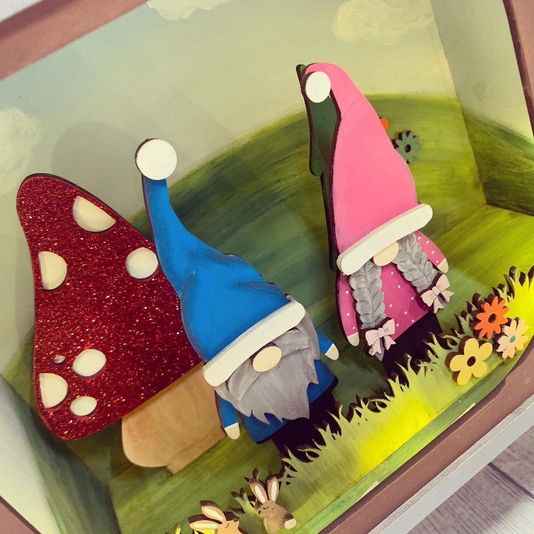 HC087 - MDF Large TV- Nordic Gnome Scene