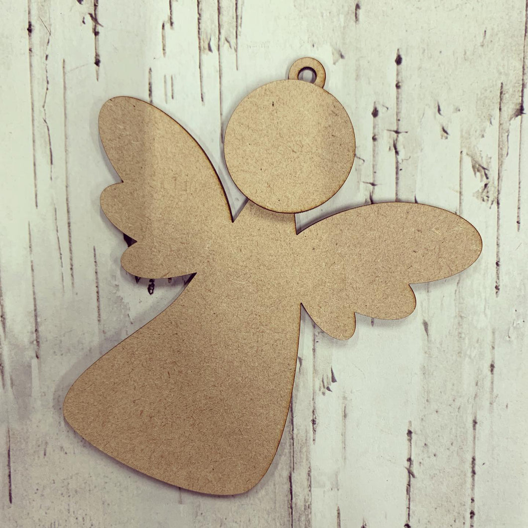CH175 - MDF Curved Angel / Fairy Bauble Hanging Style 2