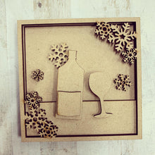LH011 - MDF Gin Frame Square 3D Plaque - Two Sizes - Olifantjie - Wooden - MDF - Lasercut - Blank - Craft - Kit - Mixed Media - UK
