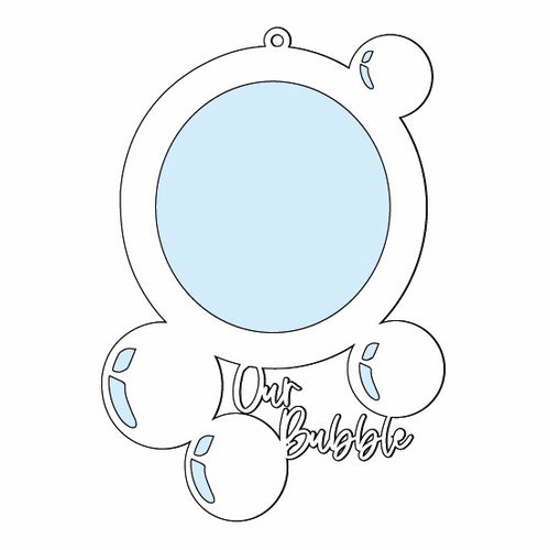 OL542 - MDF Bubble Picture Frame - 'Our Bubble'
