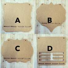 BH025 - MDF Music Themed - Medal / Bow Holder - Personalised & Choice of Shape