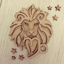 SJ208 - MDF Zodiac various sizes - Leo - Olifantjie - Wooden - MDF - Lasercut - Blank - Craft - Kit - Mixed Media - UK