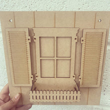 OL311 - MDF Cat 3D Shutter Window Box
