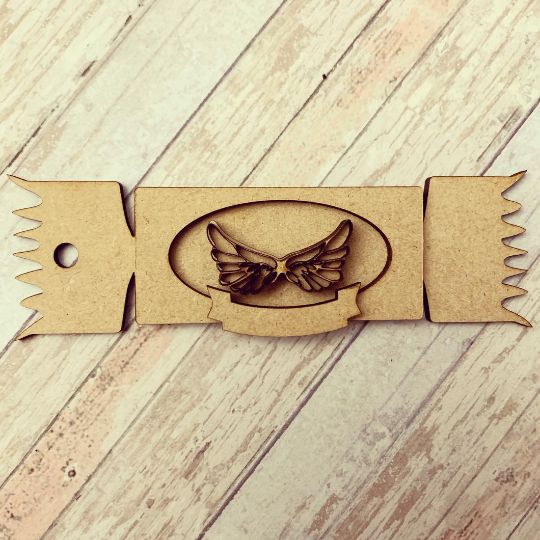 CH201 - MDF Cracker Choice Hanging - Angel wings