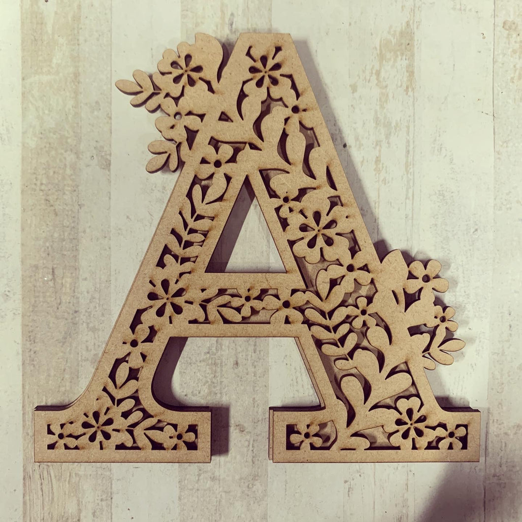 DL003 - MDF Flower Layered Letter