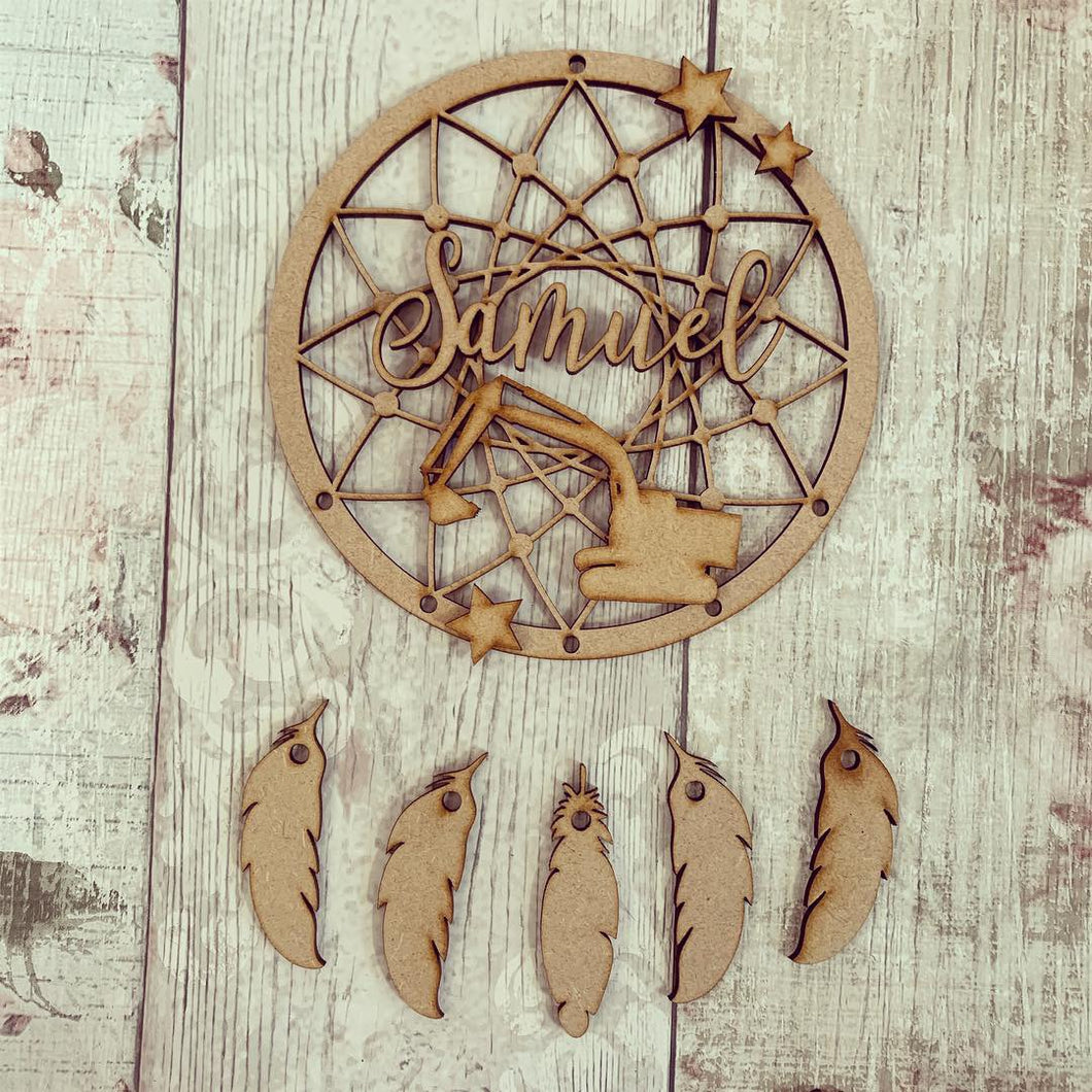 DC056 - MDF Train Dream Catcher - with Initials, Name or Wording
