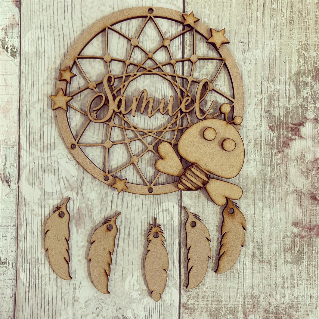 DC040 - MDF Bee Dream Catcher - with Initials, Name or Wording