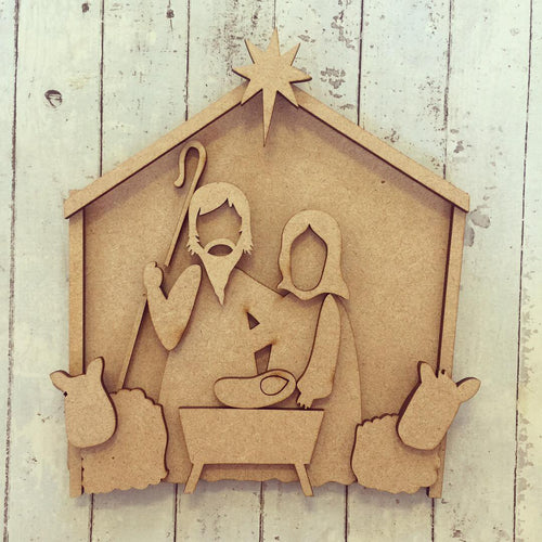 SJ066 - MDF Christmas Nativity Scene