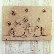 CH053 - MDF Winter Scene Postcards with Stands - Set of 4 Kits - Olifantjie - Wooden - MDF - Lasercut - Blank - Craft - Kit - Mixed Media - UK