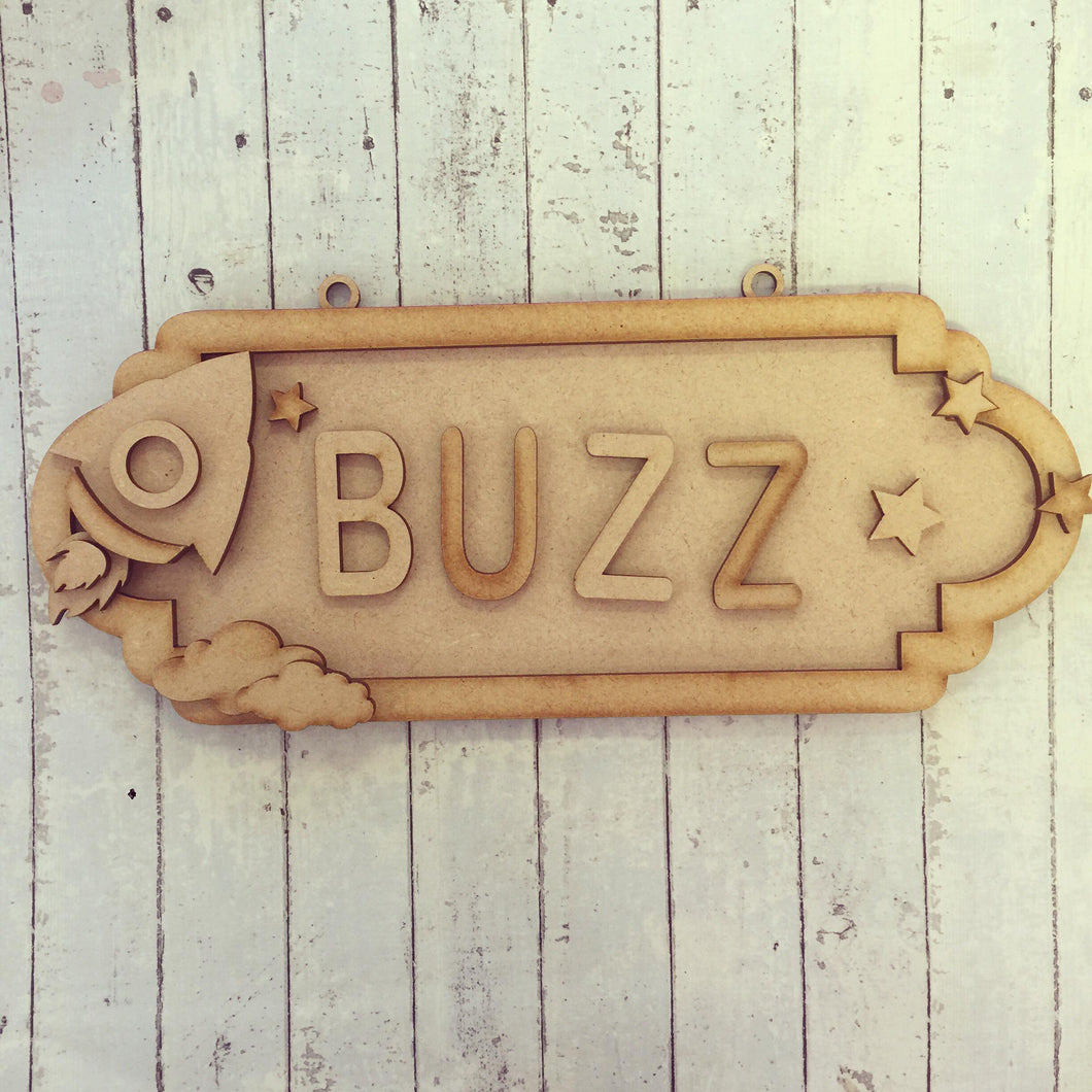 SS047 - MDF Rocket Personalised Street Sign - Large (12 letters)