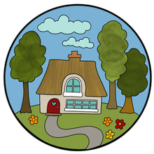 SJ026 - MDF Round House - with Optional Backing
