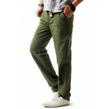 5XL Anti-Microbial Healthy Linen Pants Men 2017 Summer Breathable Slim Flax Trousers Male Boys Hemp Cotton Casual Pants,BM001 2017