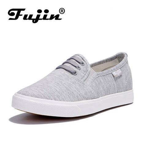 aa4277d81cf Womens Vulcanized Casual slip on Flats Canvas Shoes