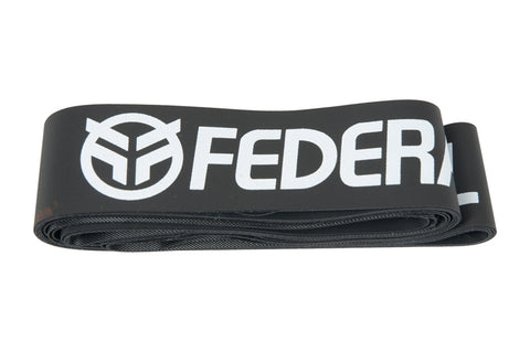 Federal Rim Tape (Pair) Black With White Logo