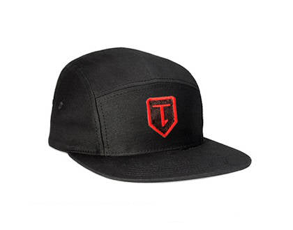 T-1 cap 5 pannel cap black