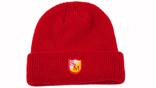 S&M EMBROIDERED SHIELD BEANIE